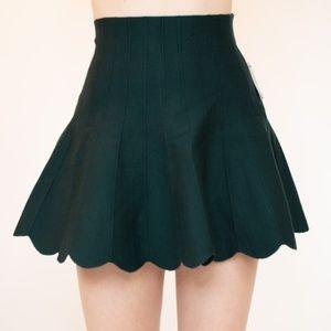 Wet Seal Green Skater Skirt NWT